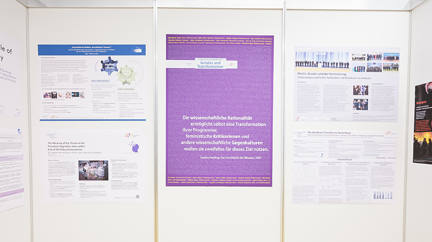 Posterausstellung Forschungsschwerpunkt Gender and Transformation